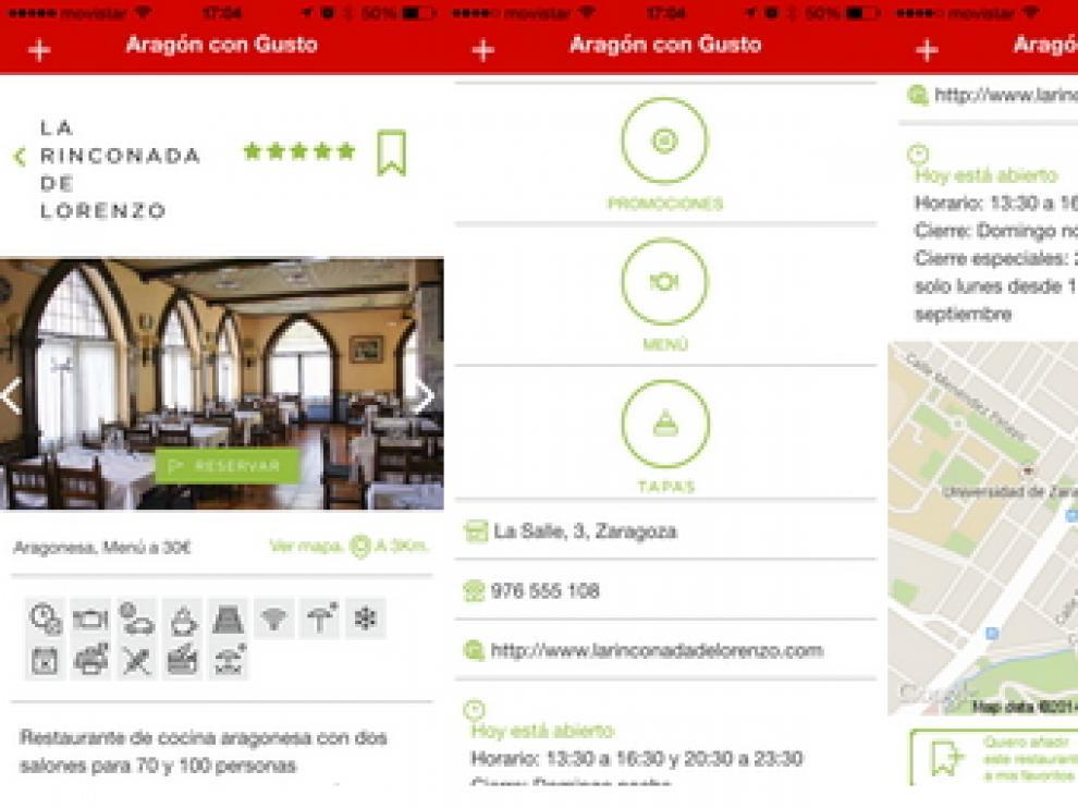 App de 'Aragón con gusto'