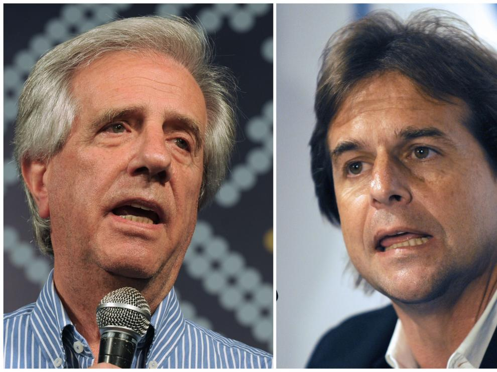 Montaje de los candidatos aspirantes a la presidencia uruguaya
