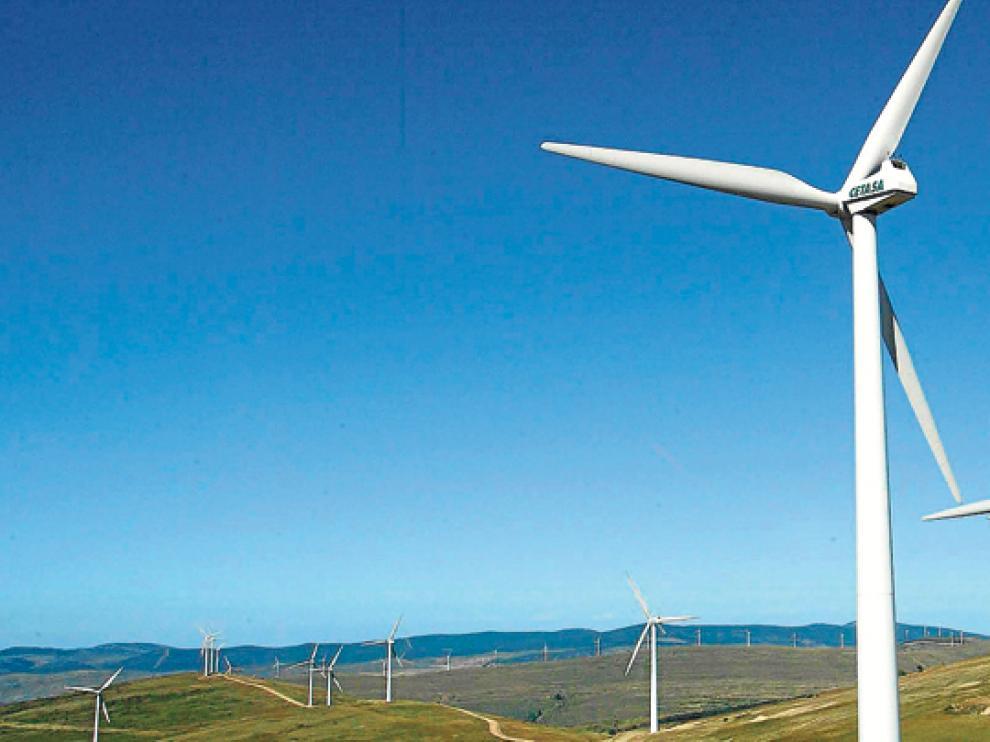 Parque eólico en las inmediaciones de Oncala