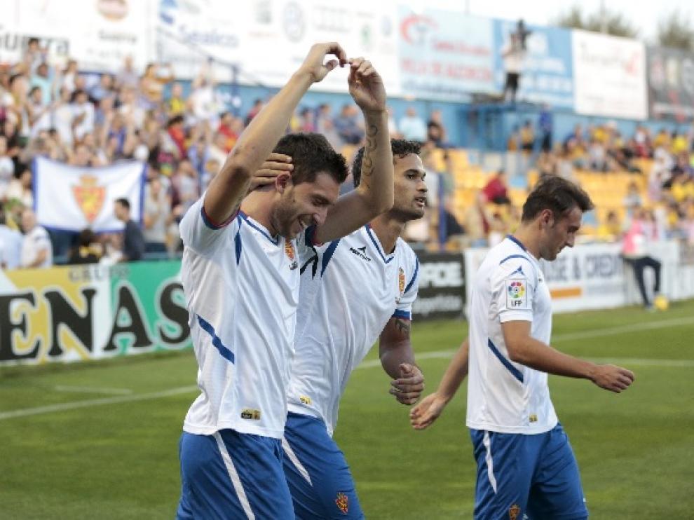 Borja Gastón marcó el gol dicisivo ante el Alcorcón, sumando 3 puntos en la clasificación.