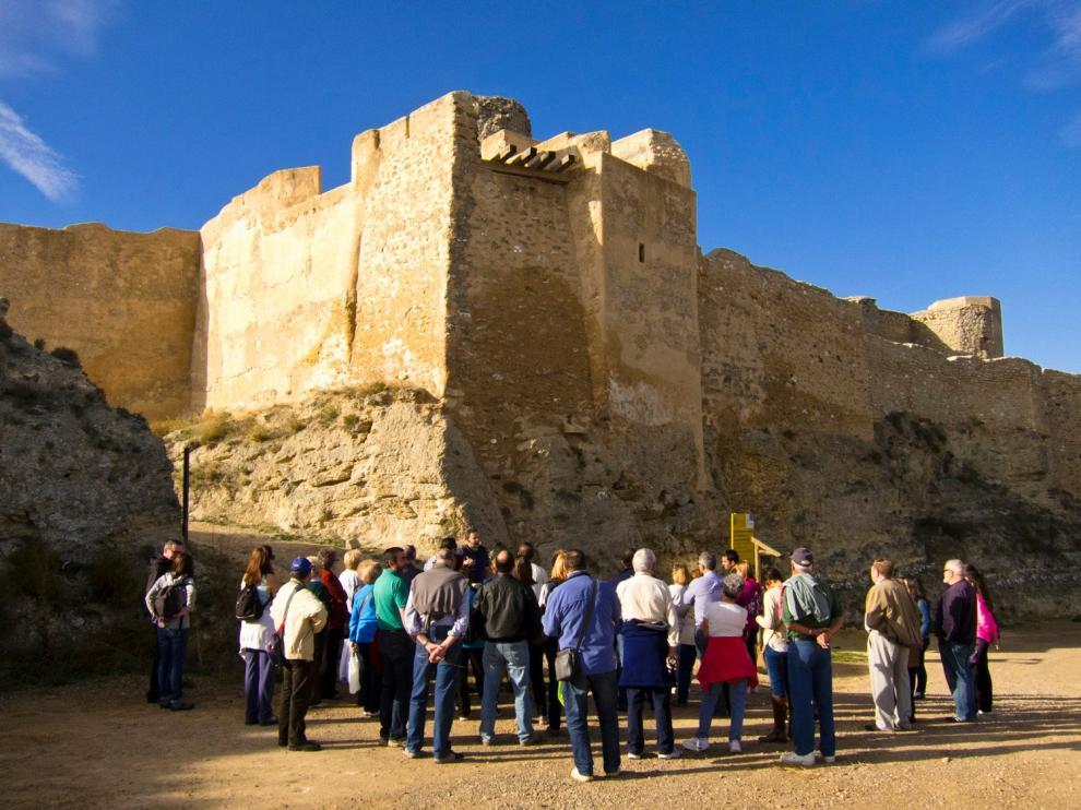 Una de las visitas al Castillo Mayor de Ayud