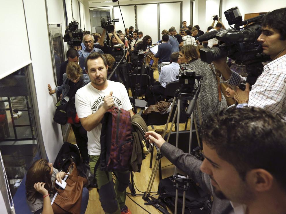 Javier Limón, en rueda de prensa.
