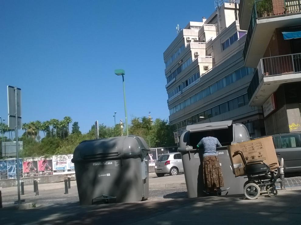 El Ayuntamiento de Sevilla multará con hasta 750 euros a quienes rebusquen en la basura
