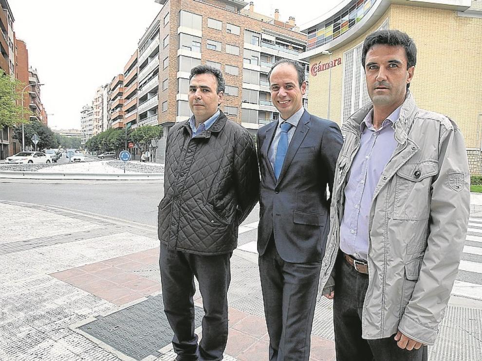 Carlos Escanero, Enrique Puértolas y José Luis Martí.