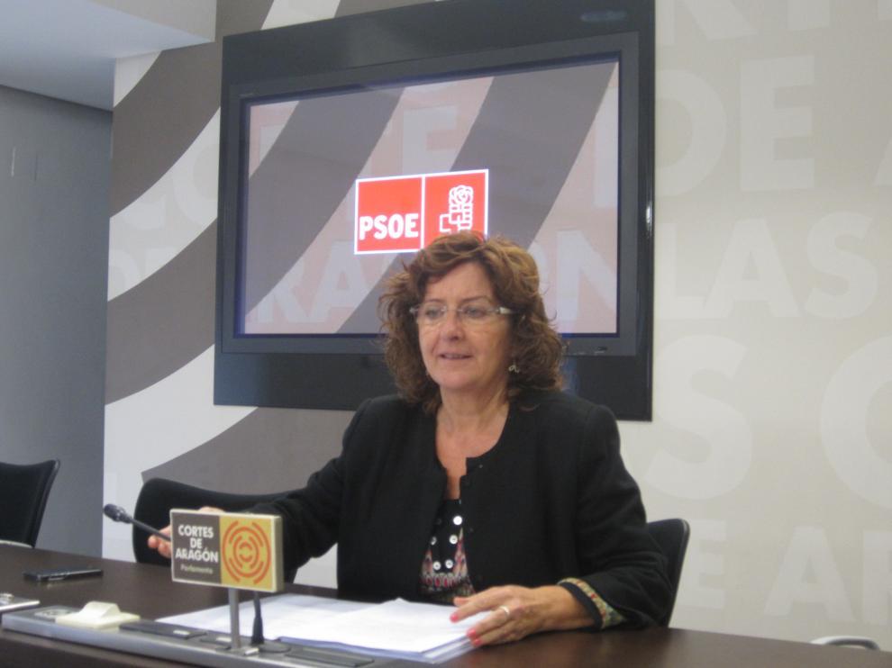 María Victoria Broto (PSOE), en una comparecencia.