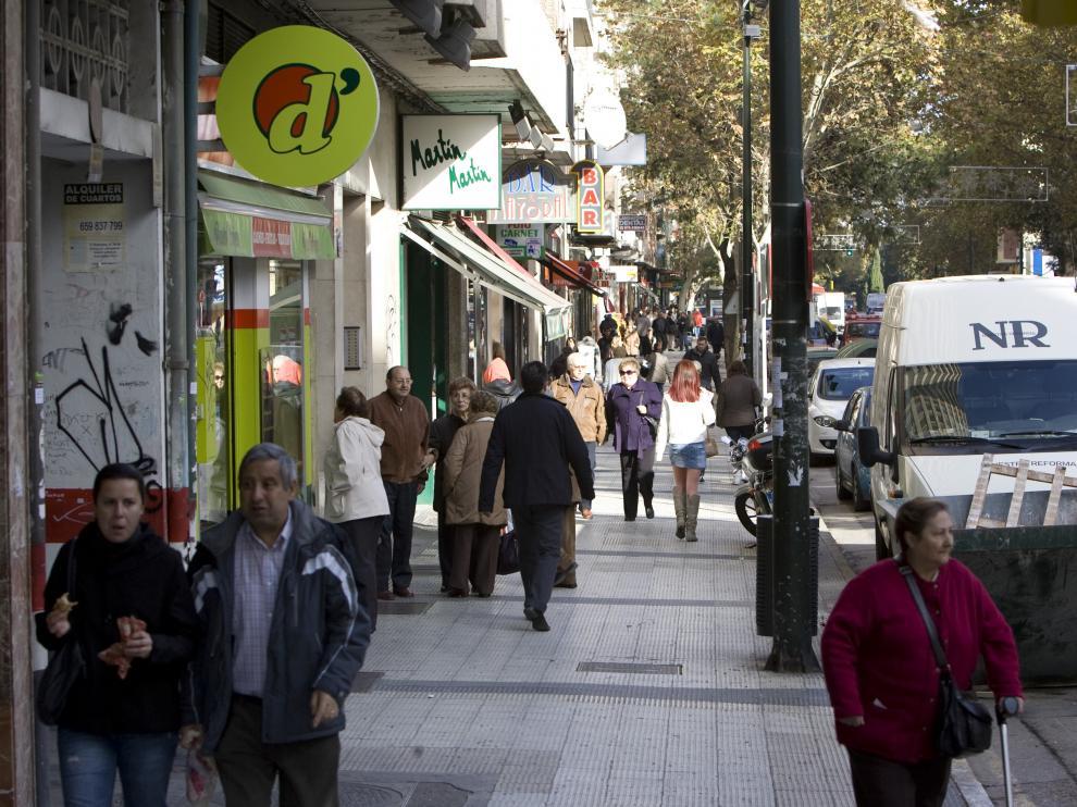 Imagen de archivo de la calle Sobrarbe, en el Arrabal