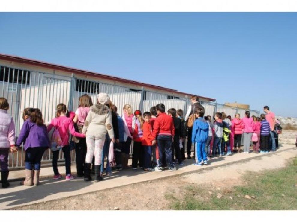 Un grupo de escolares visita el Centro de Protección Animal de Calatayud