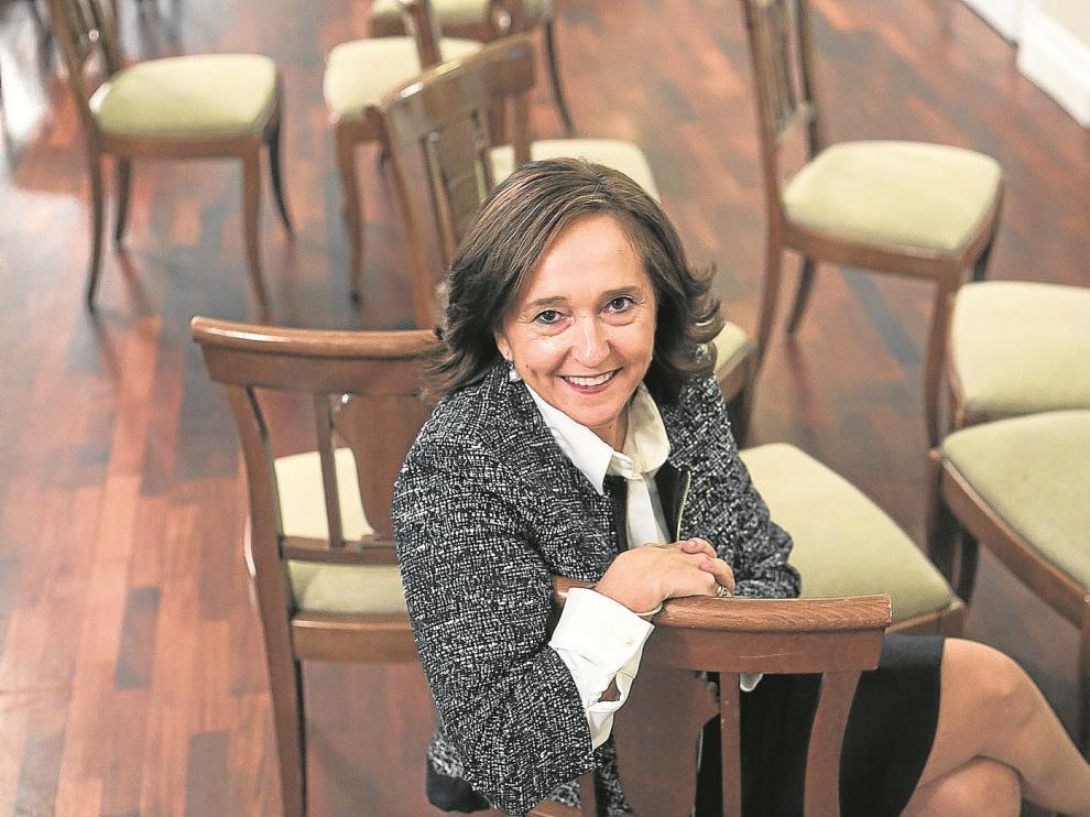 Santos, ayer, en el Gran Hotel, donde dio una charla a los miembros de la asociación La Cadiera.