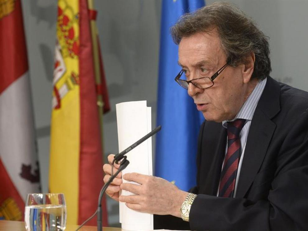 El consejero de Presidencia y portavoz de la Junta de Castilla y León, José Antonio de Santiago-Juárez, en rueda de prensa
