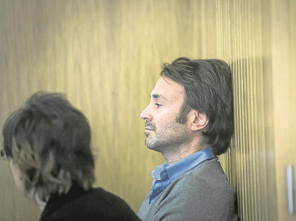 José Manuel Monegal, administrador de la empresa Ekenge Film, ayer en la Audiencia Provincial.