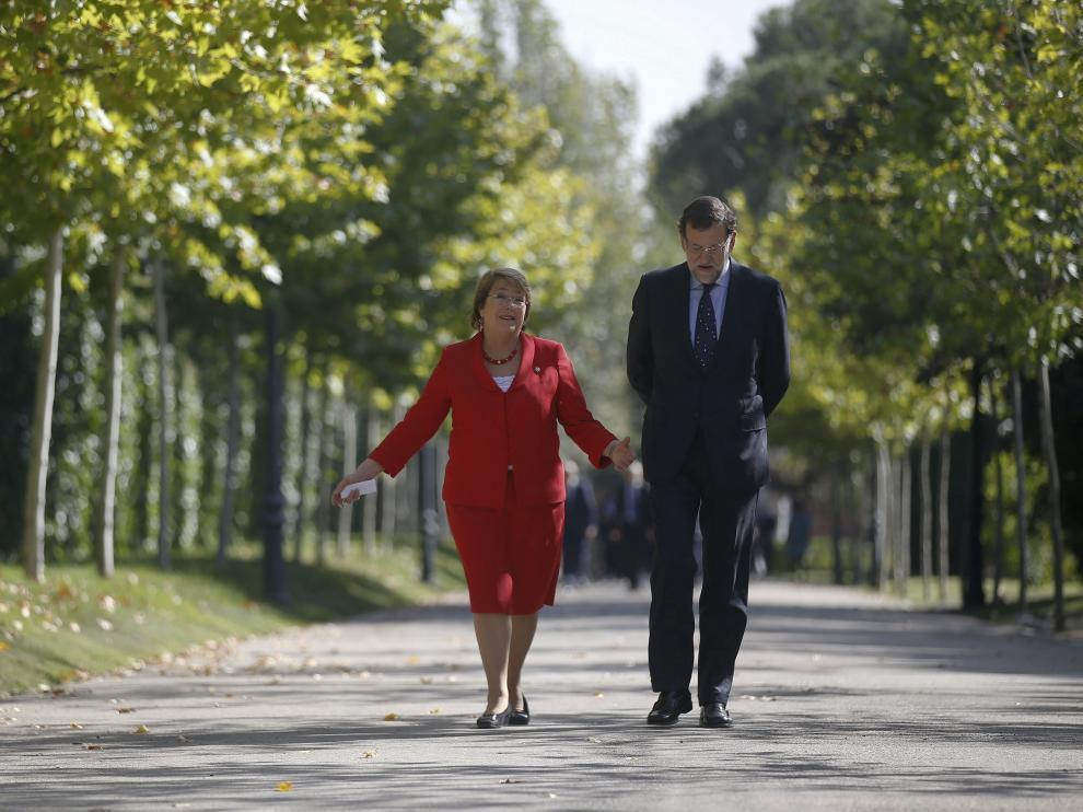 Reunión entre la presidenta chilena y Mariano Rajoy
