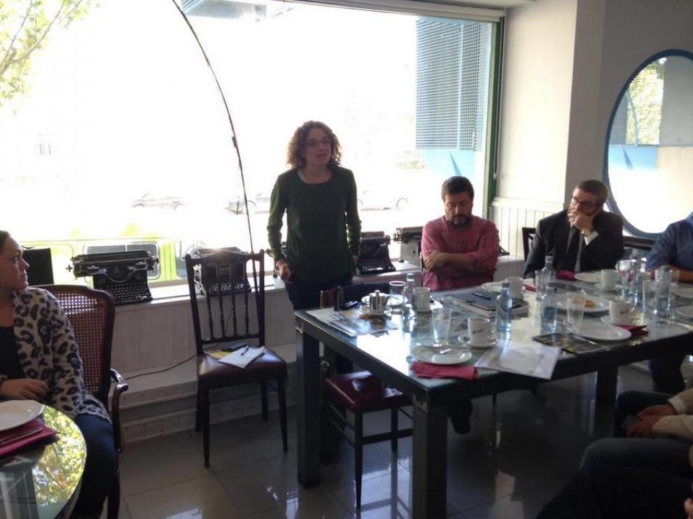La directora de la Fundación Biodiversidad, Sonia Castañeda, cierra el desayuno de trabajo de El Hueco