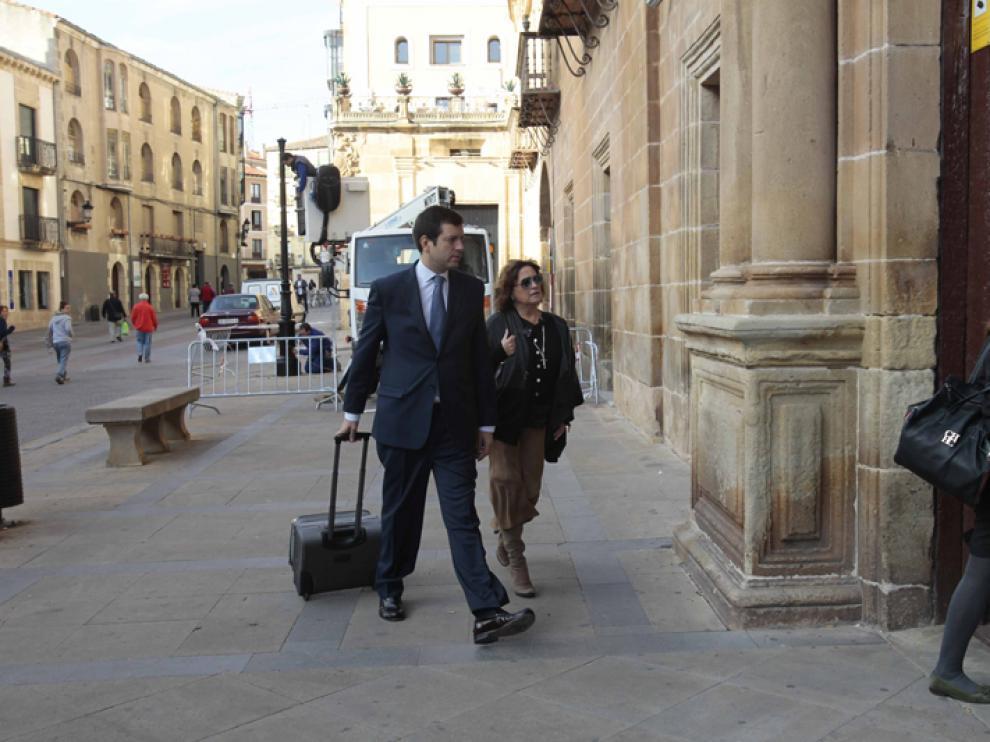 La expresidenta de la Cámara a su llegada al Palacio de Justicia, en una imagen de archivo