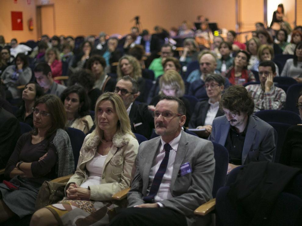 Publico asistente al II Congreso Nacional del Libro Electrónico, en Barbastro