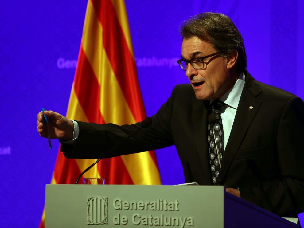 El presidente catalán, Artur Mas