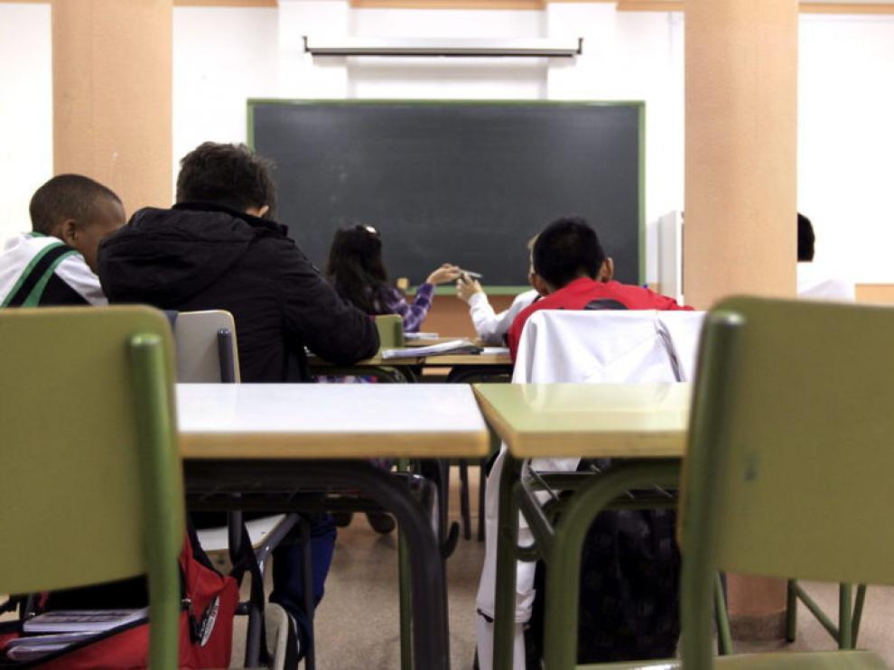 Aula de un colegio zaragozano