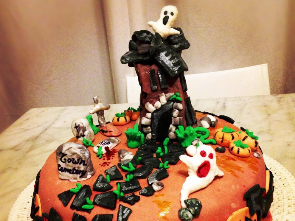 Pastel decorado para Halloween