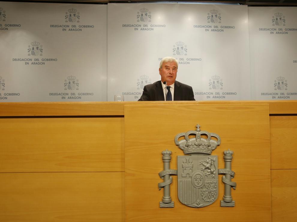 El delegado de Gobierno dio a conocer los datos sobre la criminalidad