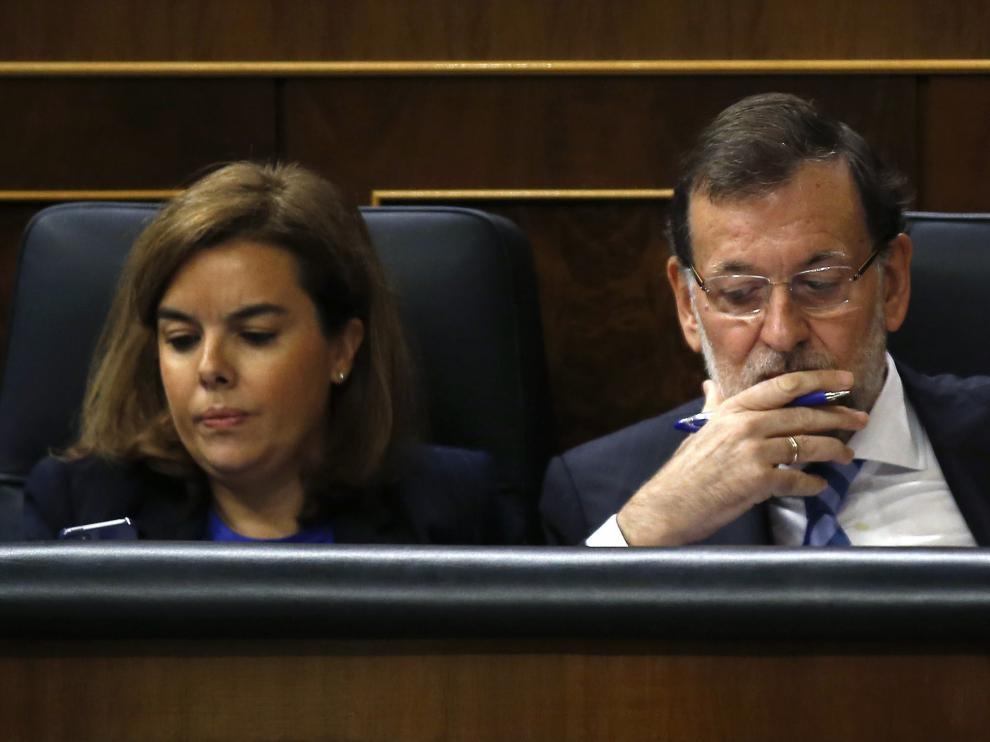Soraya Sáenz de Santamaría, con Rajoy