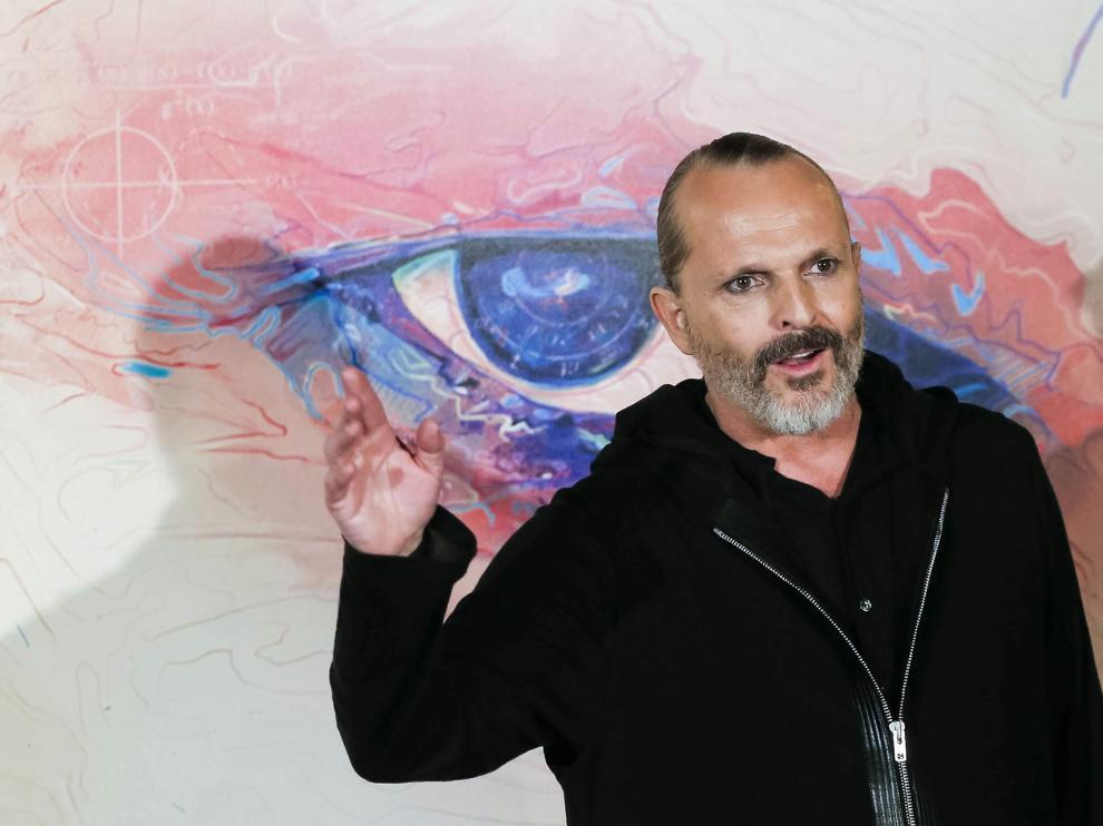 Miguel Bosé en la presentación de su nuevo disco, 'AMO'