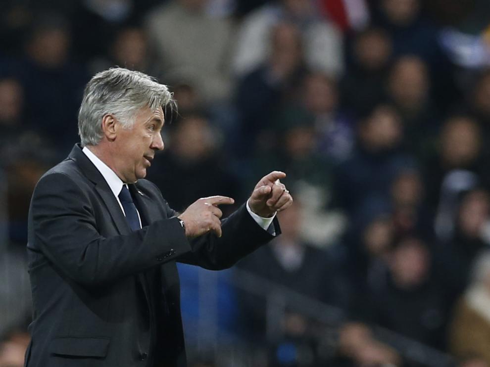 Ancelotti durante el partido contra el Liverpool