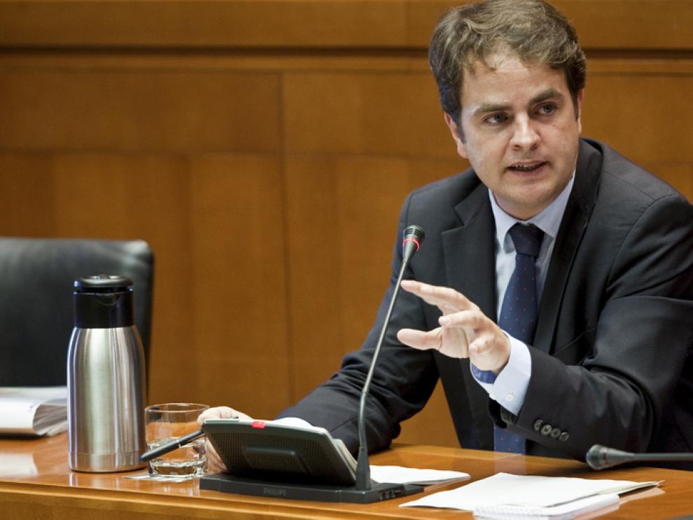 El consejero de Presidencia y Justicia y portavoz del Gobierno de Aragón, Roberto Bermúdez de Castro