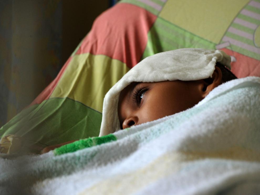 Un paciente sospechoso de estar infectado con el virus del chikungunya, en un hospital de Tegucigalpa