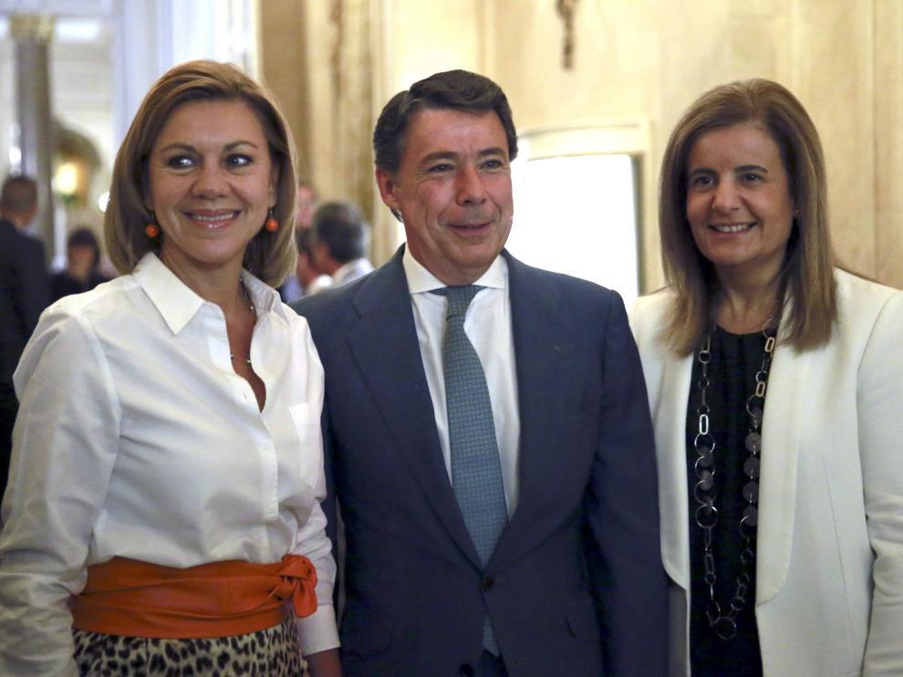 Ignacio González, antes de pronunciar una conferencia en el desayuno informativo del Fórum Europa.