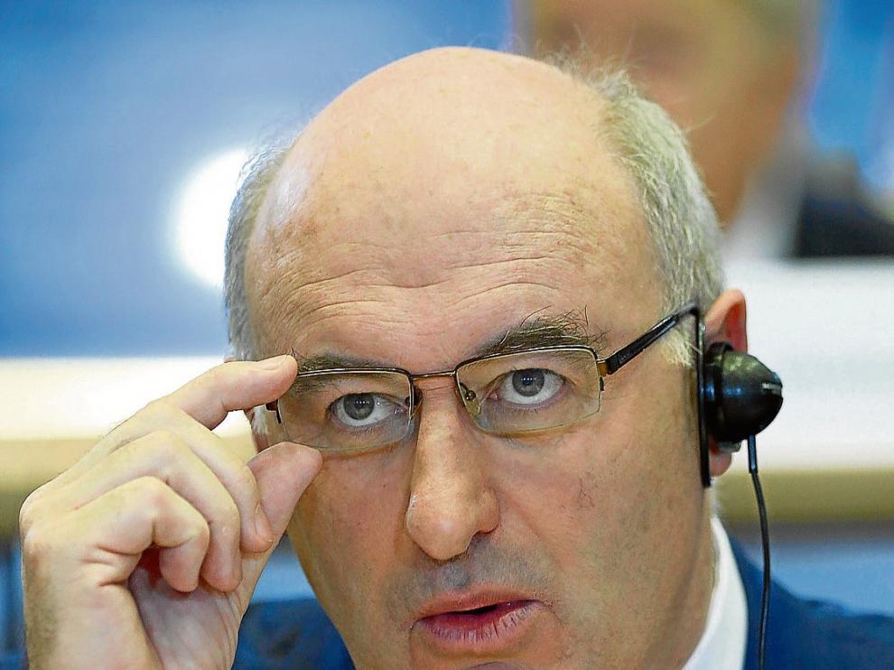 Phil Hogan, en un momento de su examen ante la Eurocámara para ser nombrado comisario