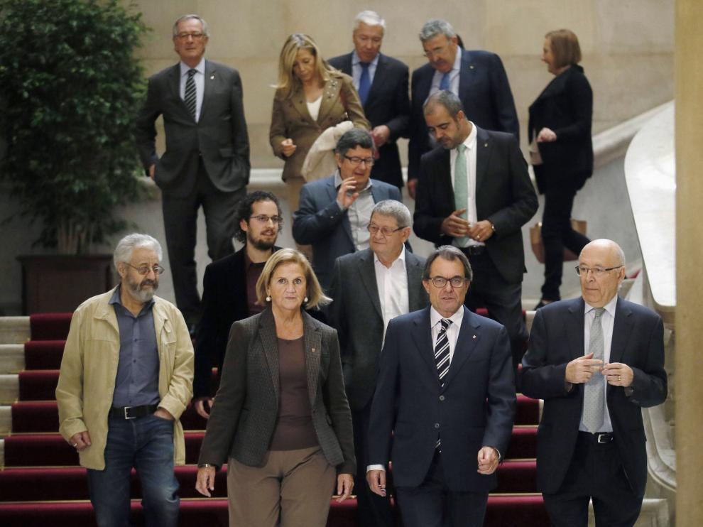 Artur Mas se reunió este viernes con representantes del Pacto Nacional para el Derecho a Decidir