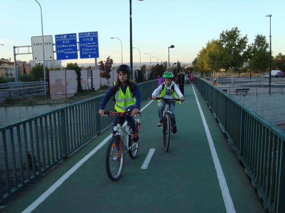 Ruta escolar en bici del CP Agustina de Aragón