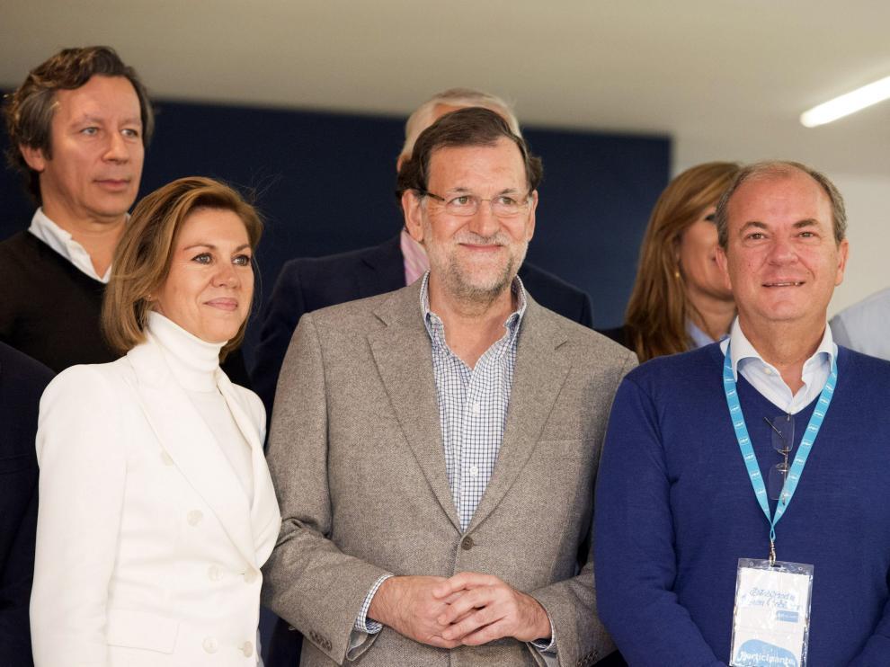 Cospedal, Rajoy y Monago, este sábado en Cáceres