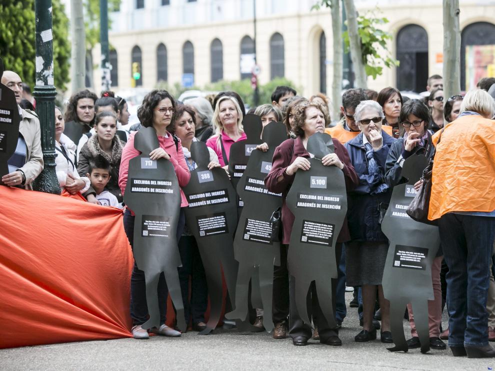 Imagen de archivo de una protesta contra los retrasos en el IAI.