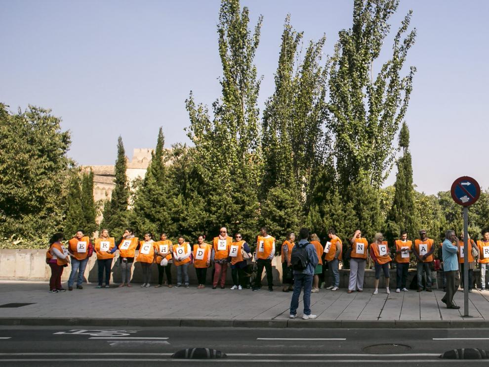 Protesta contra el nuevo proyecto de ley del IAI