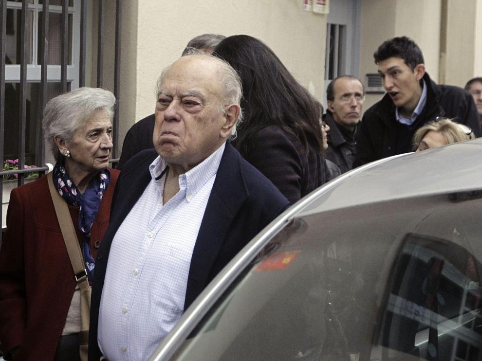 Jordi Pujol y su mujer Marta Ferrusola