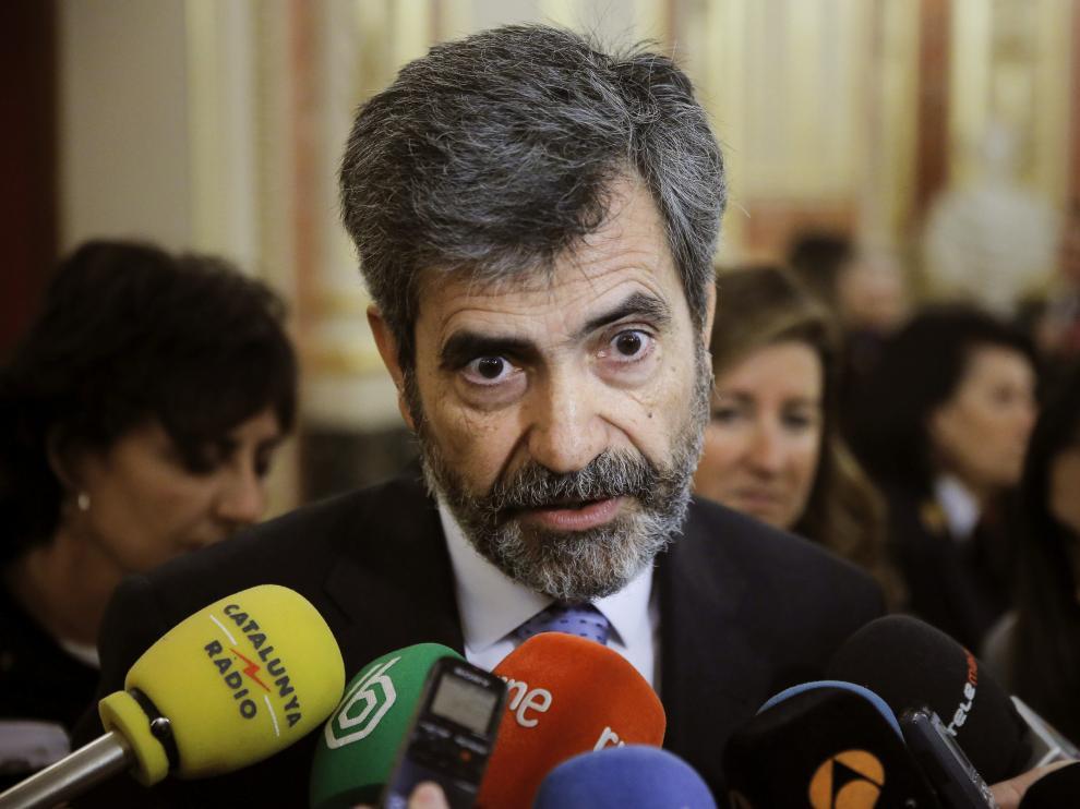 Carlos Lesmes, presidente del Consejo General del Poder Judicial (CGPJ) y del Tribunal Supremo