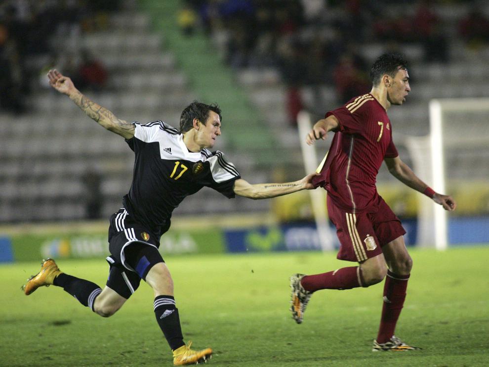 El delantero de la selección española sub-21 Munir El Haddadi