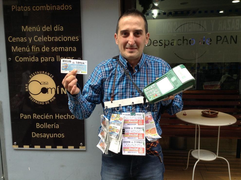 José Antonio Durnes el vendedor de la ONCE