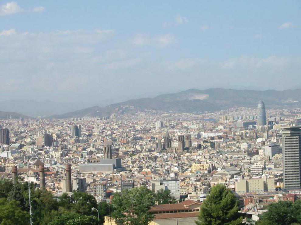 Vista panorámica de la capital catalana