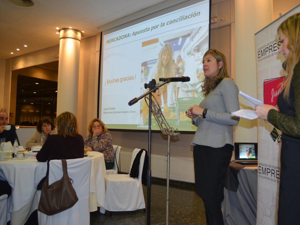 Acto de la Asociación de Mujeres Empresarias de Huesca