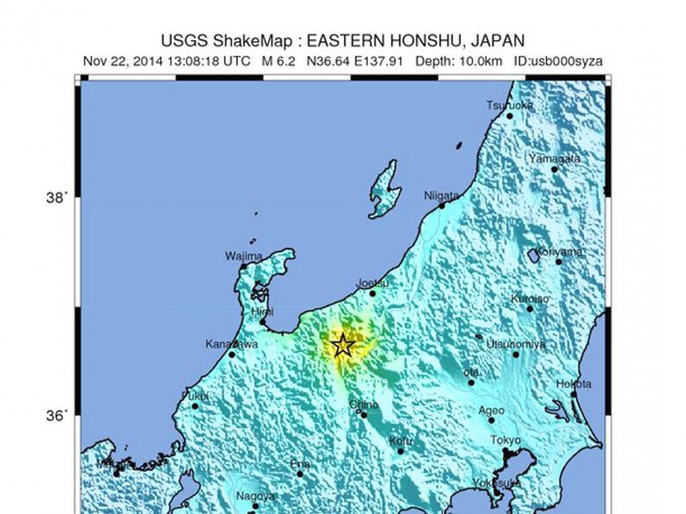 Un terremoto de 6,8 grados deja varios heridos en Japón