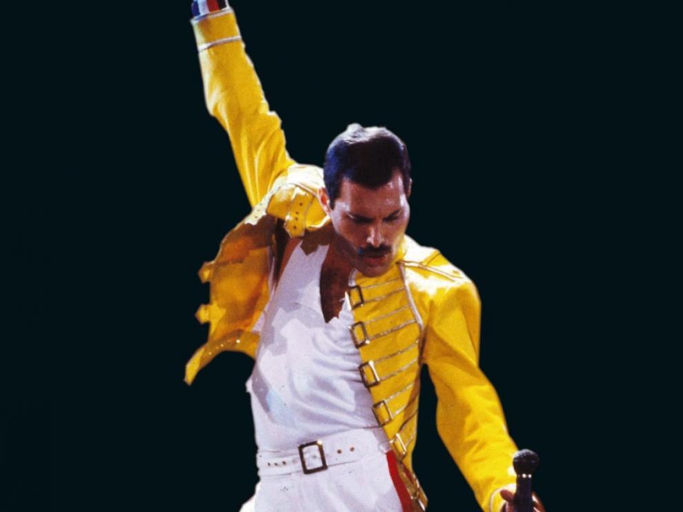 Freddie Mercury, en un concierto