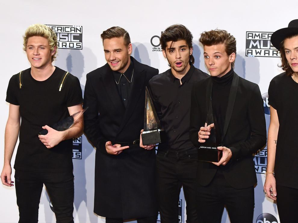Los chicos de One Direction fueron de los grandes triunfadores de la noche