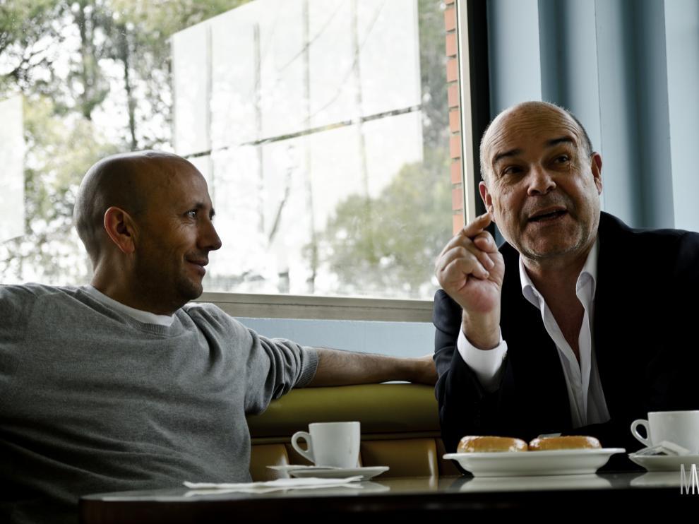 Luis Alegre y Antonio Resines, en 'Aragón rodado'