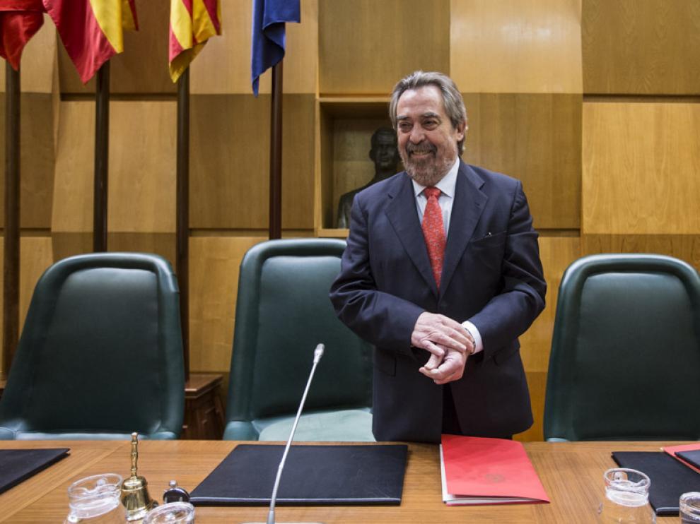 El alcalde de Zaragoza, Juan Alberto Belloch,