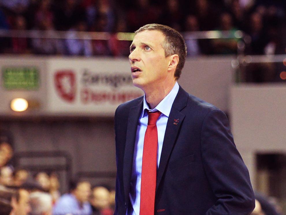 El entrenador del CAI Zaragoza, Joaquín Ruiz Lorente