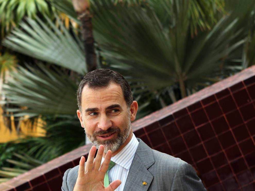 El Rey Felipe VI, en un viaje a México