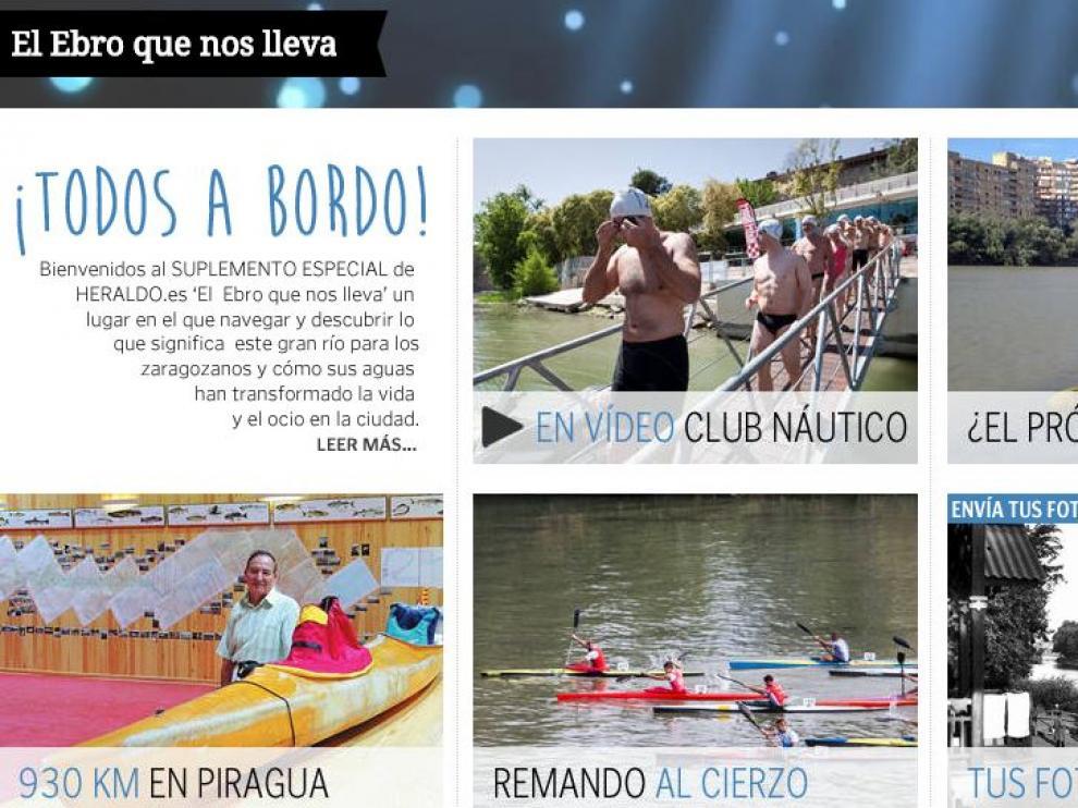 Suplemento en Heraldo.es de 'El Ebro que nos lleva'