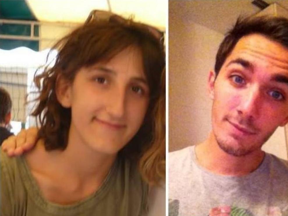 Julien Pérez-Piguet y Sarah Mazerolles, los estudiantes desaparecidos