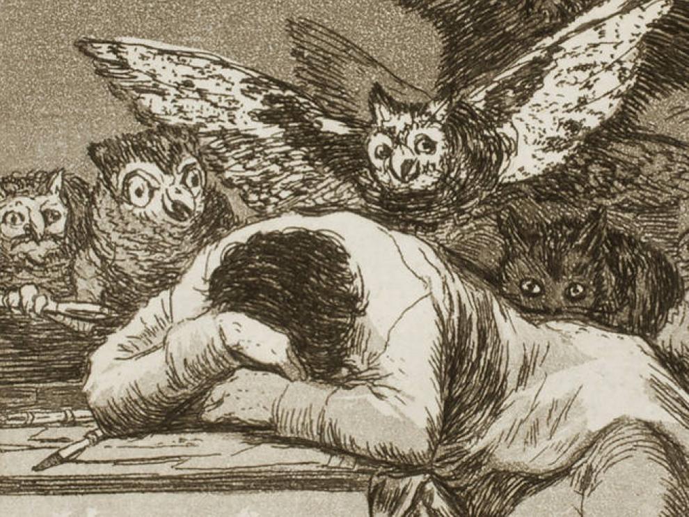 Uno de los grabado de Goya que se encuentra en el Prado